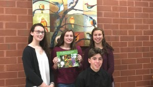 John Clayton VNPS 2017 Nature Camp scholarship recipients: Zoe Averett, Lisa Small, Nash McDowell, and South McDowell (seated). They attended the November chapter meeting where they spoke about their rewarding experiences at Nature Camp.