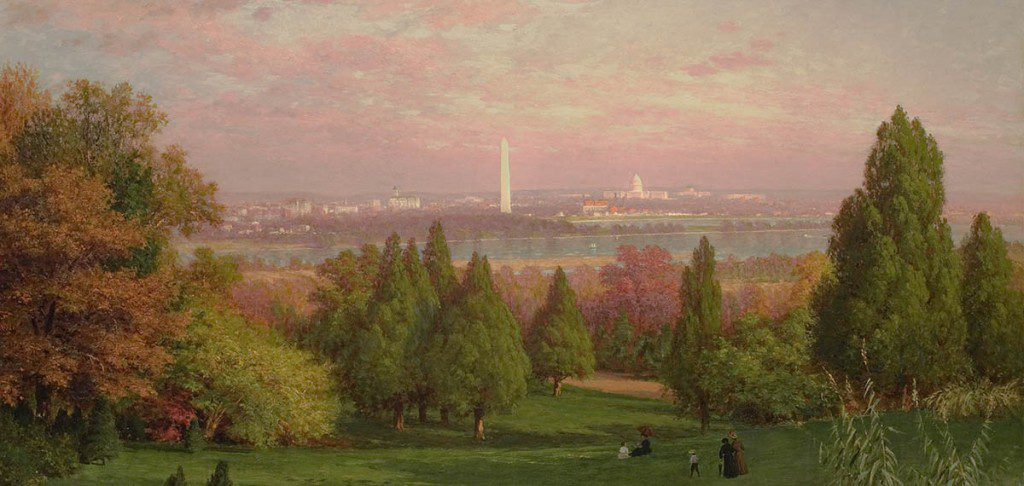 View of Washington from Arlington by John Ross Key (1837-1920). Image courtesy The Johnson Collection.