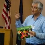 Potowmack President, Alan Ford, showing the new NOVA Native Plant Guide