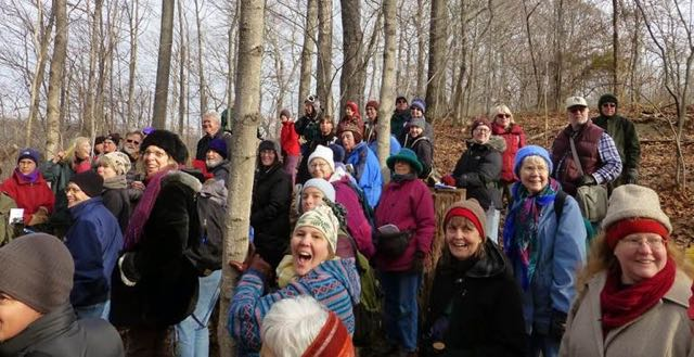 Revelers in Rich Cove Forest at Ferry Hill, Washington County, Maryland. Photo by Steve Young.