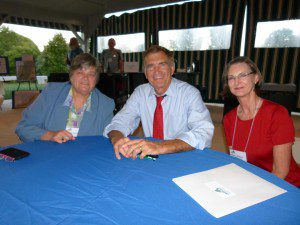 Left to right: Nancy Sorrells, VNPS Newsletter Editor, Emmett Hanger, VA State Senator, Marcia Mabee Bell, VNPS Conservation Chair