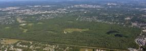Overhead shot of Huntley Meadows. Photo courtesy of Wetland Solutions, Inc