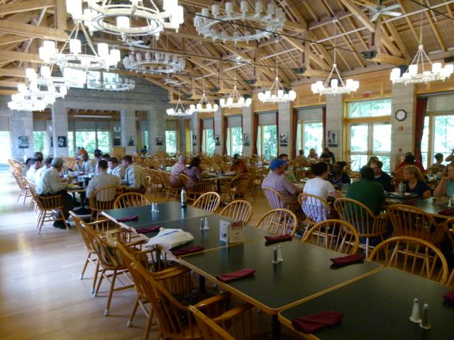 Beautiful Dining Hall, plus lots of place to meet, talk, and network!